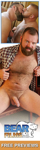 big hot hairy bear sucking, kissing and more